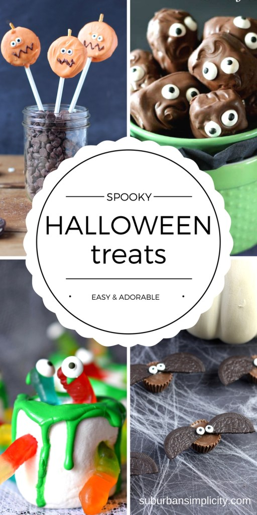 Halloween Treat Recipes to scare up a hauntingly good time! Easy, adorable and perfect for your Halloween or class party!