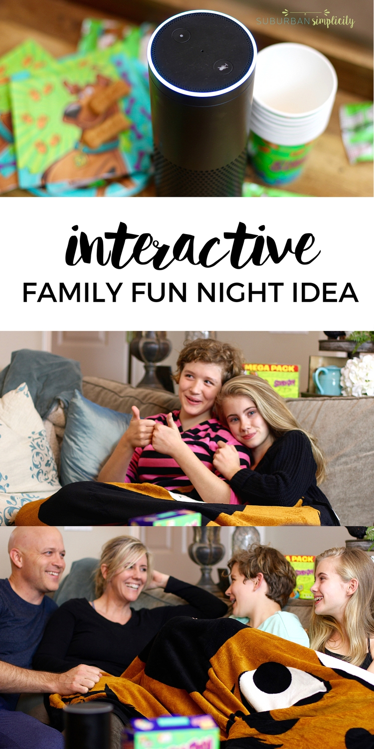 Tired of plain old pizza movie night?  You have to try this Family Fun Night Idea Everyone will love! It's interactive and immersive and doesn't require a screen! #familyfun #thingstodowithkids