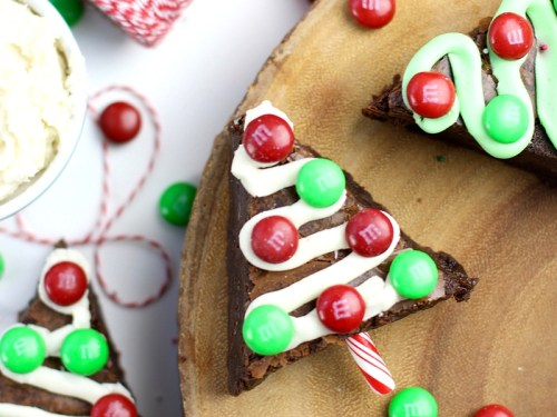 brownie christmas trees christmas tree brownie recipe - Christmas Easy Recipes