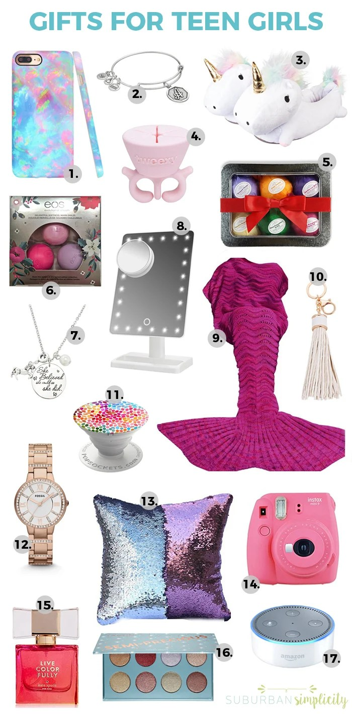 Looking for cool gift ideas for teen girls? This gift guide has you covered. Teens can be hard to shop for but not with these clever and on trend ideas! #teengiftguide #giftsforteengirls