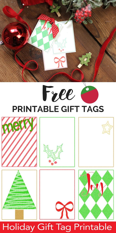 Free Printable Christmas Gift Tags Christmas Gift Tag Template