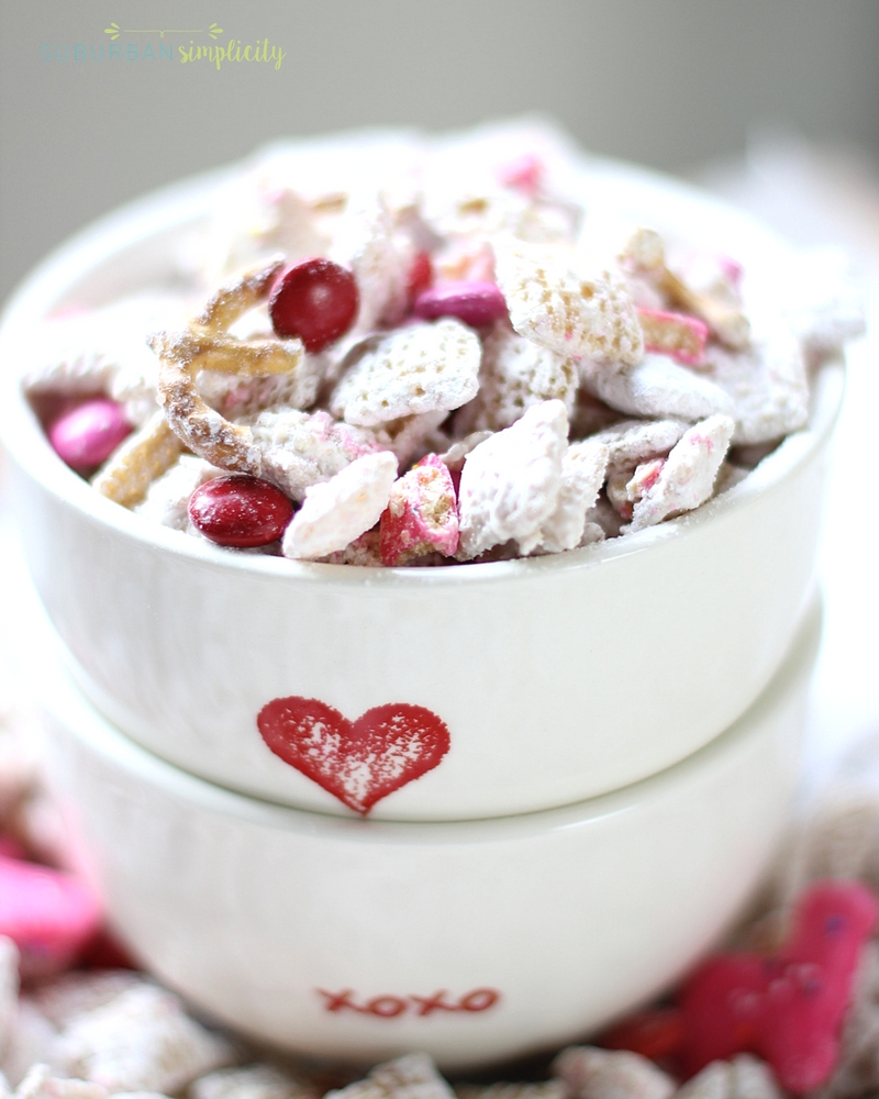 Two Valentineu0027s Day Bowl Stacked With Valentineu0027s Day Puppy Chow ...