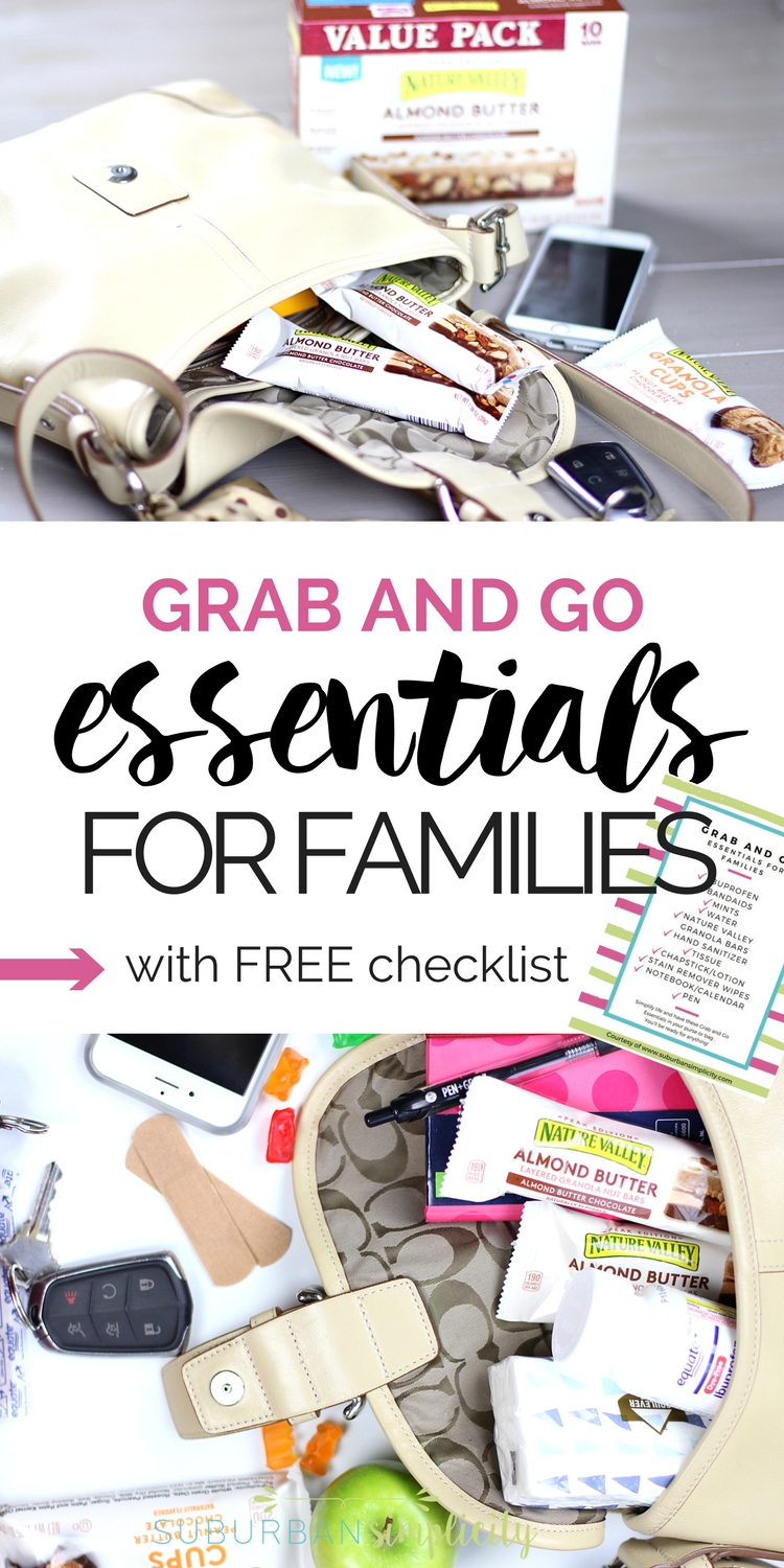 Simplify your life and have these Grab and Go Essentials for Families in your purse or bag. You'll be the mom ready for anything! #ad #momessentials