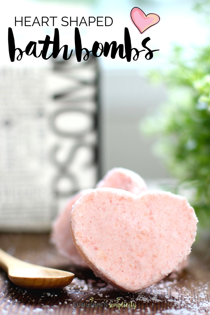 Heart Shaped Bath Bombs make the perfect pampering DIY. Gift them for Valentine's Day or just keep them for yourself, this bath bomb recipe is so relaxing and luxurious!