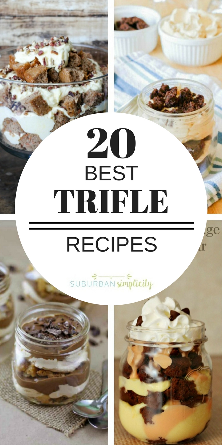 If you're looking for the Best Trifle Recipes, you've come to the right place! Fruity, lemony, chocolatey, gluten-free or peanut butter, they're all here and waiting for you to dig into they're delicious layers! Great dessert ideas to feed a crowd! #trifle #dessertrecipes