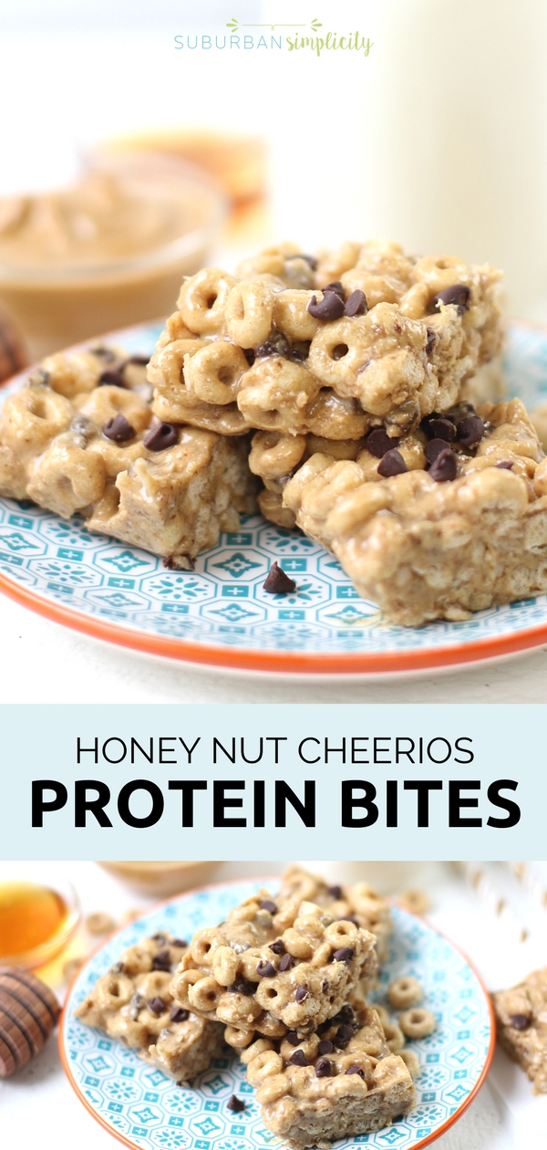 Give yourself a little energy boost with these Honey Nut Cheerios Protein Bites.  With a few simple ingredients, this delicious no-bake recipe will curb your hunger and make your day a little tastier. #ad #proteinbites #Cheerios #easyrecipes #snackideas