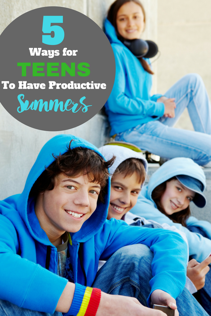 Teenagers have a lot of time on their hands in the summertime. Don't let them get bored, help your teen have a productive summer with these creative ideas they'll thank you for!