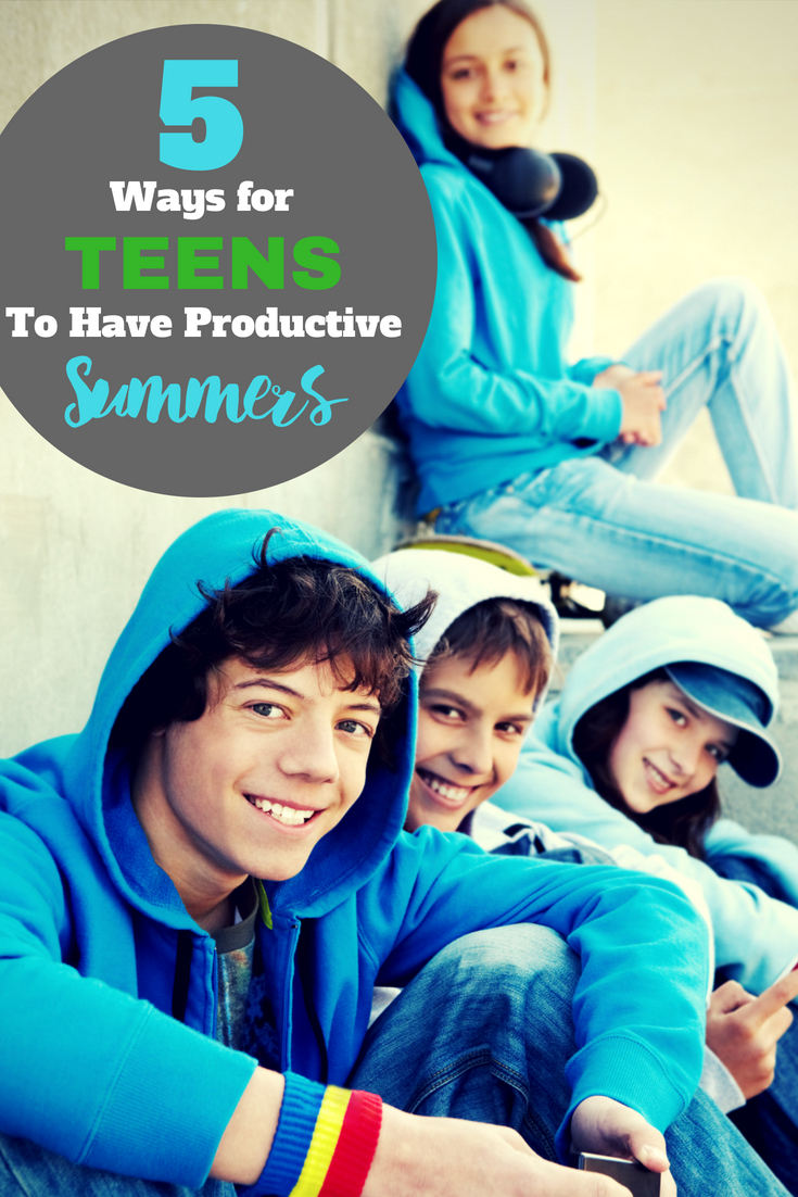 Teenagers have a lot of time on their hands in the summertime.  Don't let them get bored, help your teen have a productive summer with these creative ideas they'll thank you for! #teenagers #summer #teen