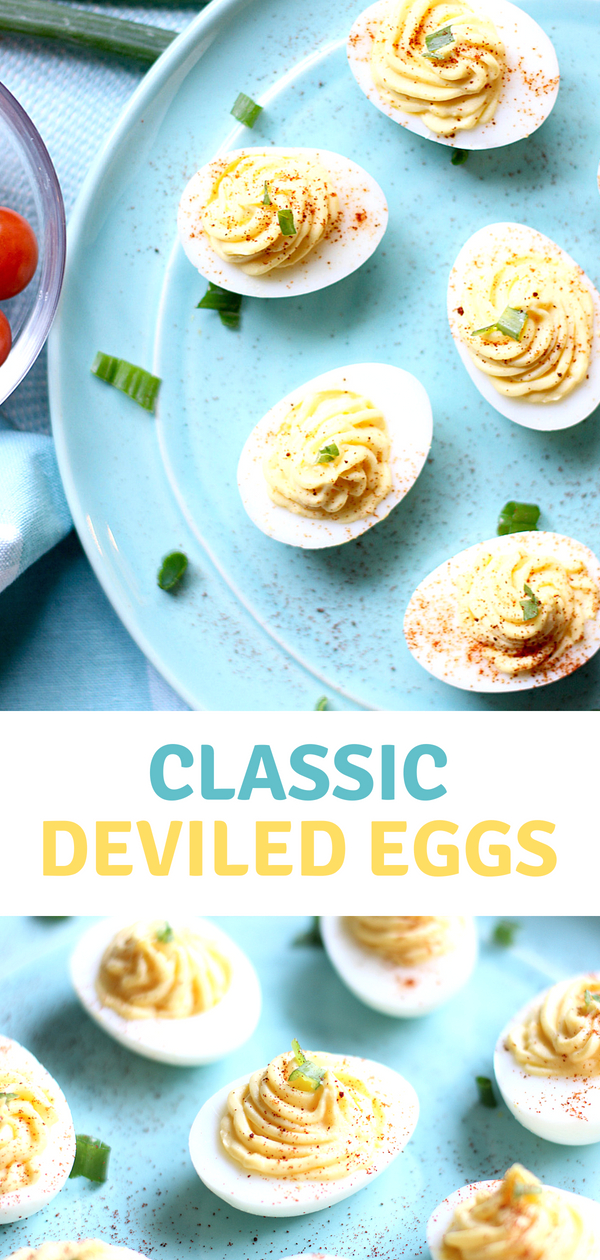 Get ready to make the Best Deviled Eggs! This classic deviled egg recipe is so darn delicious, they won't last long at your next picnic or potluck!
