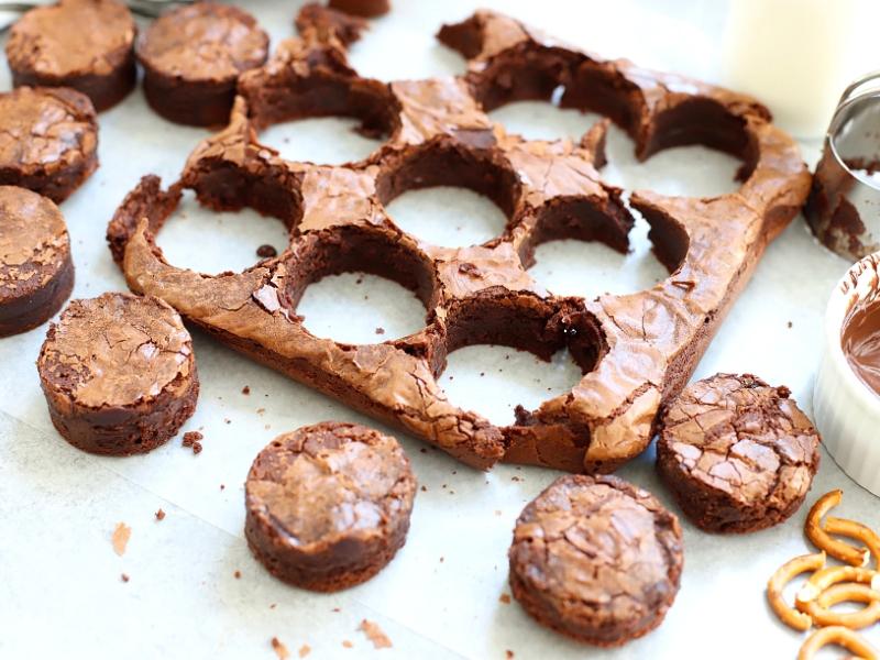 Brownies to make Brownie Spiders