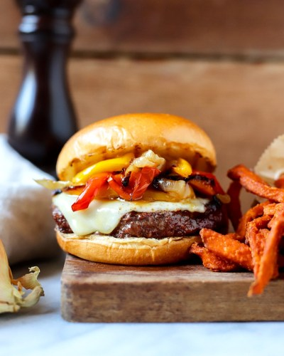 Gilled Philly Cheesesteak Burger