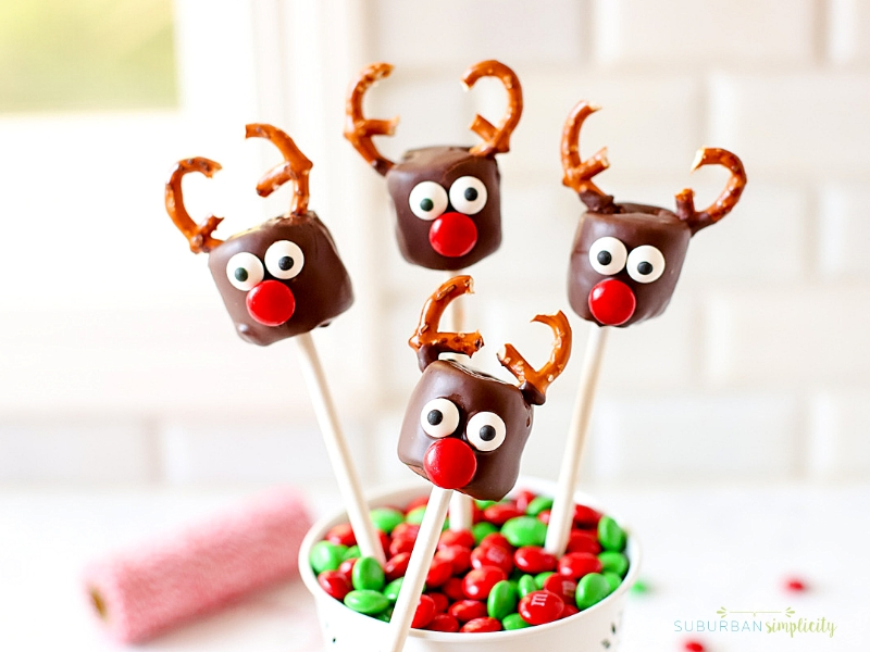four Marshmallow Reindeer