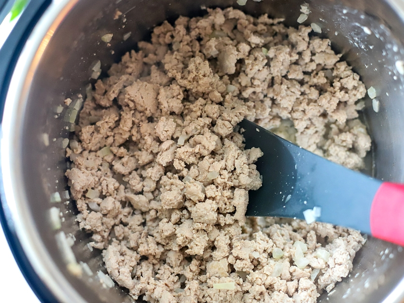 Ground Turkey in an Instant Pot