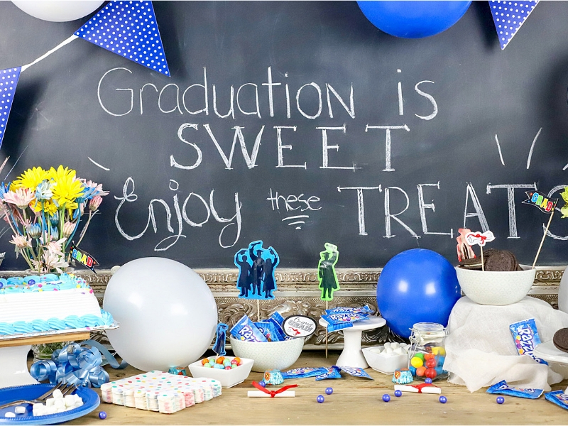 Graduation party dessert bar