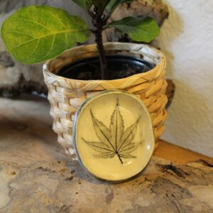 imprinted leaf dish