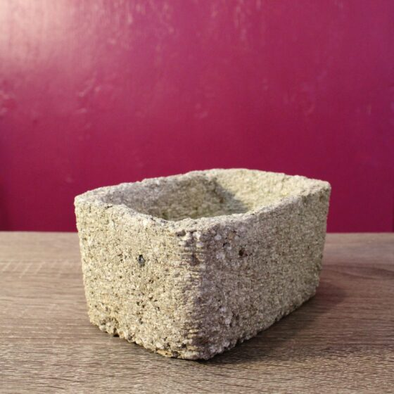 rectangle hypertufa pot