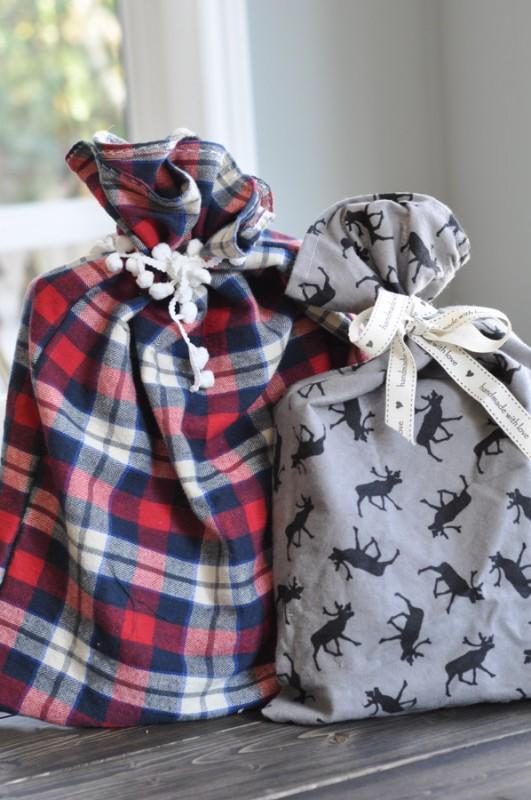 DIY | Sacos de tela para Navidad