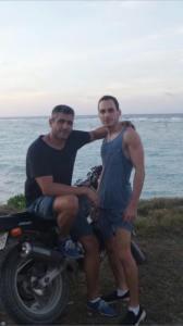 Fariborz on Nauru with a friend