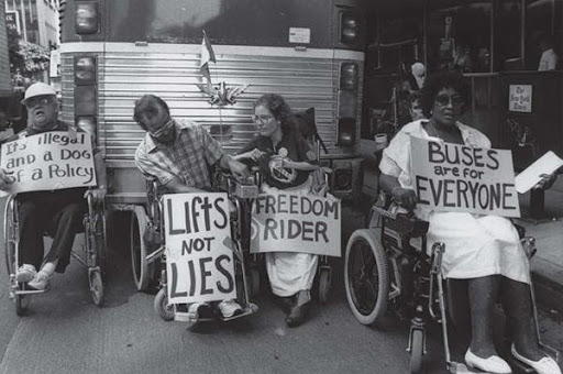 People with disabilities fight for their rights.