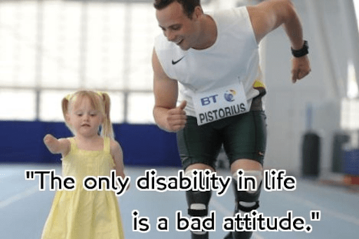 Inspiration for disabled people.