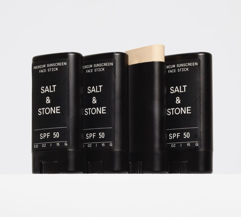 Genderless beauty brand Salt & Stone have a great tinted sunscreen stick.
