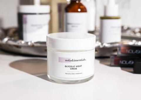 Vegan skincare brand Nolaskinsentials glycolic night cream