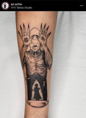 instagram photo of shadow monster by tattoo artist in Puerto Rico An Echo