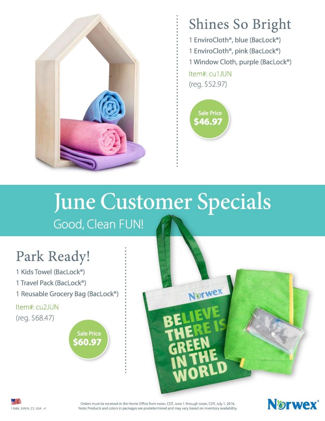 June 2016 Customer Specials