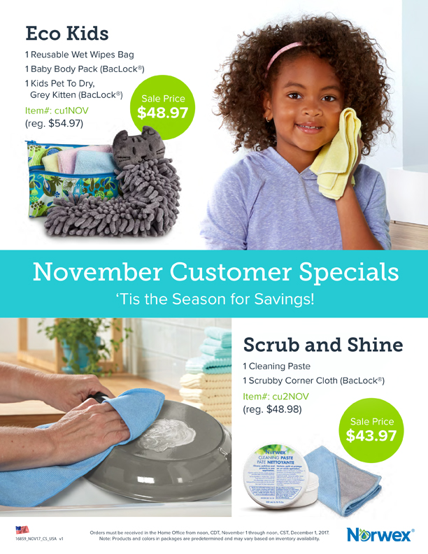 November 2017 Norwex Customer Specials