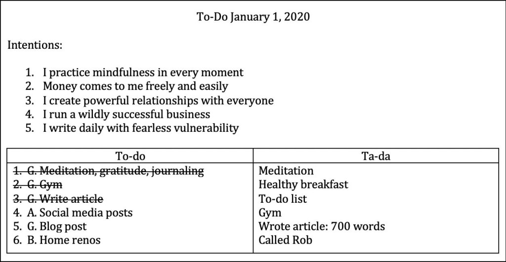 To Do January 1