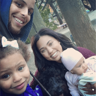 Family portrait from Ayesha Curry's Instagram @AyeshaCurry
