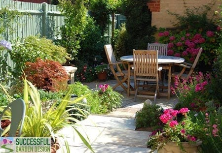 Small garden design course for Successful garden design