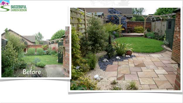 Undesigned v designed garden - good design doesn't need to be complicated