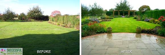 Subtle Use Of Space Division From Patio And Planting Border Shapes
