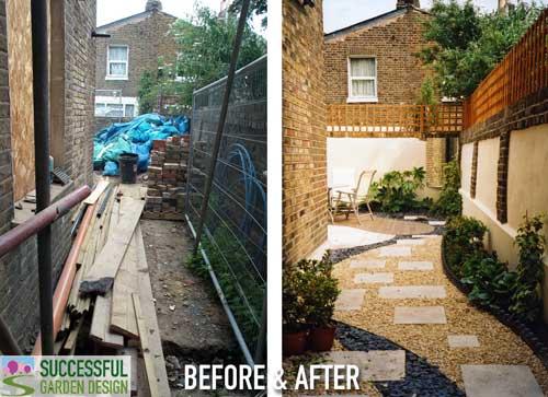 Long, narrow, awkward side yard garden makeover – Case study