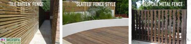 Contemporary fence style examples