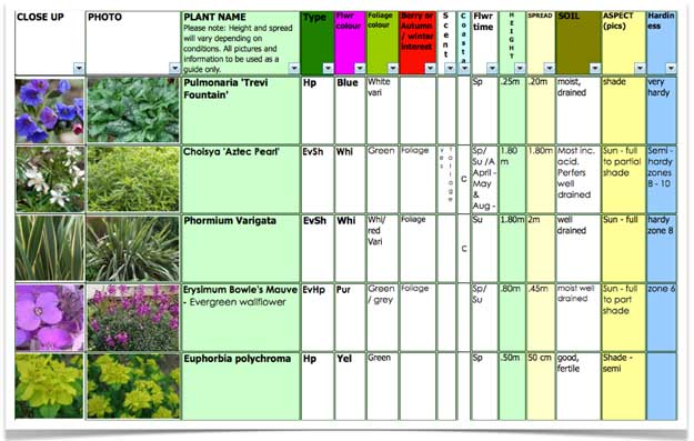 Garden plant suggestions april for Successful garden design