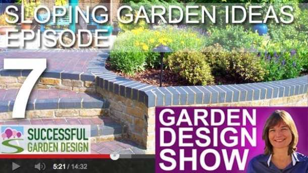Sloping garden ideas steps and retaining walls for Successful garden design
