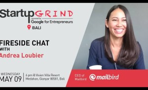Startup Grind Bali hosts Andrea Loubier ( CEO of Mailbird)