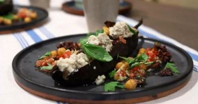 delicioso platillo de berenjenas ahumadas