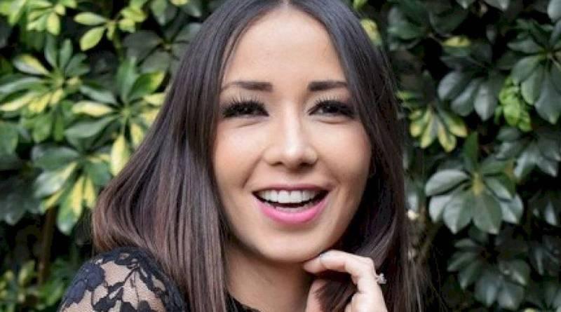 El rostro de la bella presentadora Aida Estrada.
