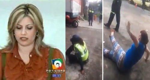 Ex presentadora de TV Corina Garcia agrede a agentes de la PMT