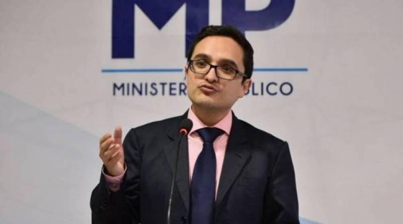 Juan Francisco Sandoval titular de la feci en una conferencia de prensa