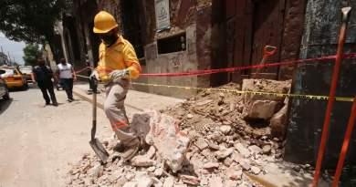 escena de destrucción tras el sismo en México el 23/06/2020