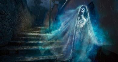 Imagen de la Llorona, leyenda de un espiritud que ahogo a sus hijos en Guatemala