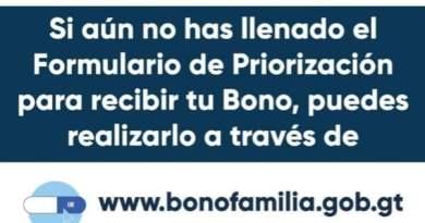 arte del bono familia hecha por el mides, una ayda de mil quetzales por la pandemia del coronavirus
