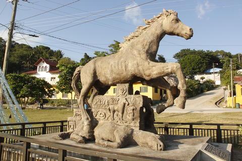 Caballo de piedra hecho en Guatemala conocido como el Caballo de Cortés