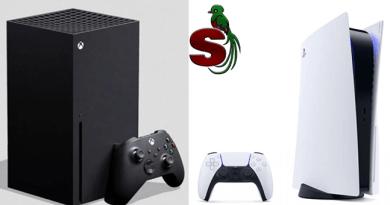 Consolas de video juegos Xbox series x y una sony Ps5 una es blanca y la otra negra