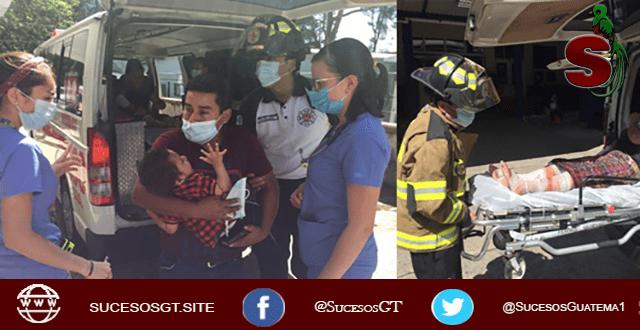 fotografía de heridos en explosión de tortillería