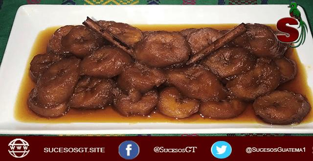receta de plátanos en gloria guatemaltecos